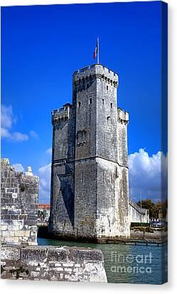 Medieval Entrance Canvas Print - Guarding La Rochelle by Olivier Le Queinec