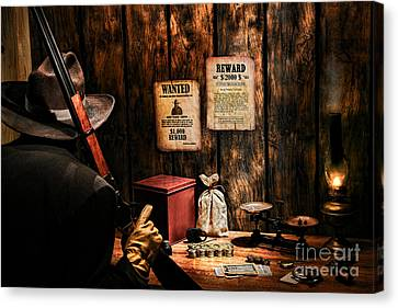 Guarding The Payroll Canvas Print