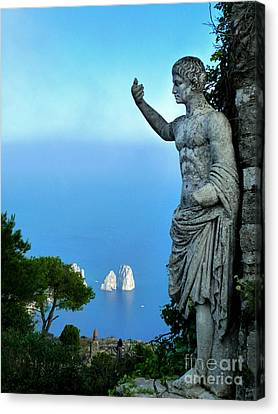 Canvas Print featuring the photograph Guarding The Water by Mike Ste Marie