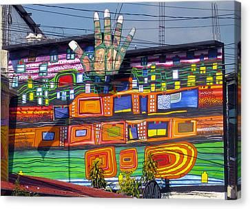 Guatemala Street Art 1 Canvas Print by Kurt Van Wagner
