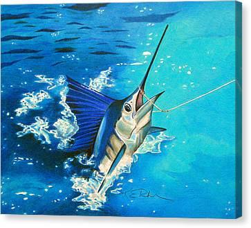 Guatemalan Sailfish Canvas Print by Karen Rhodes