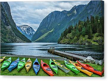 Gudvangen, Norway Fabulous Fjord Called Canvas Print
