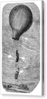 Guerin Balloon Accident Canvas Print by Science Photo Library
