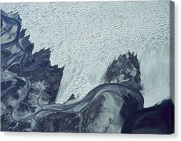 Guerrero Negro Dunes Aerial Baja Mexico Canvas Print by Larry Minden