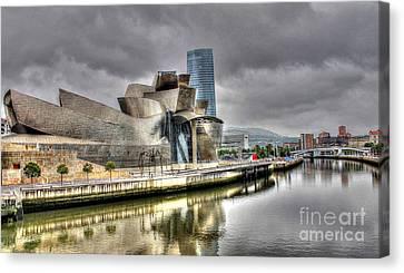 Guggenheim Museum Bilbao  Canvas Print by Ines Bolasini