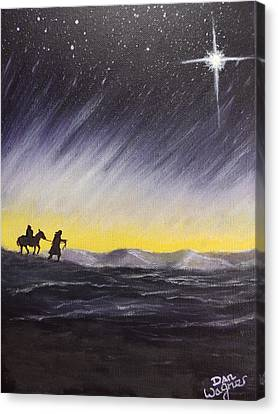 Canvas Print featuring the painting Guided by Dan Wagner