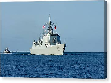 Guided-missile Destroyer Xian Canvas Print