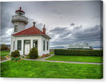 Whidbey Island Ferry Canvas Print - Guiding Light by Spencer McDonald