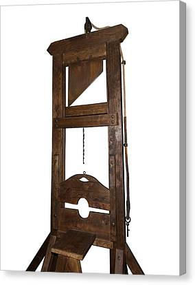 Guillotine From Spain Canvas Print by David Parker