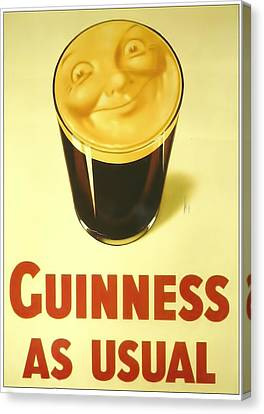 Patrick Canvas Print - Guinness As Usual by Georgia Fowler