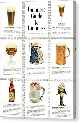 Guinness Guide To Guinness Canvas Print by Georgia Fowler