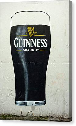 Patrick Canvas Print - Guinness - The Perfect Pint by Charlie Brock