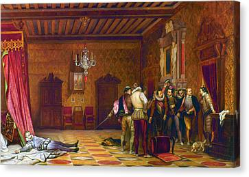 Guise Assassination, 1588 Canvas Print by Granger
