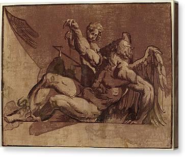 Guiseppe Nicolo Vicentino After Giovanni Antonio Pordenone Canvas Print by Quint Lox