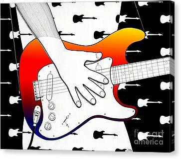 Guitar 1 Canvas Print by Joseph J Stevens