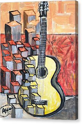 Guitar Canvas Print by Asuncion Purnell