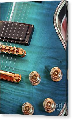 Canvas Print featuring the photograph Guitar Blues by Joy Watson
