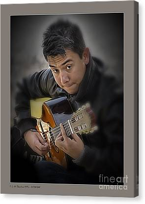 Guitar Boy Canvas Print by Pedro L Gili