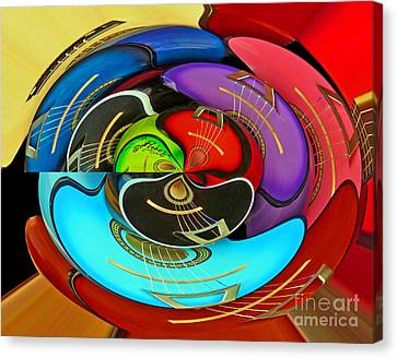 Canvas Print featuring the photograph Guitar Circle by Cheryl Del Toro