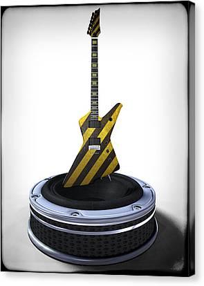 Guitar Desplay V3 Canvas Print by Frederico Borges