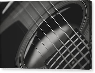 Canvas Print featuring the photograph Guitar Detail by Michael Donahue