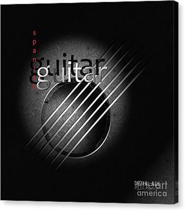 Guitar Canvas Print by Franziskus Pfleghart