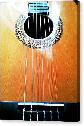 Guitar In The Light Canvas Print