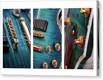 Canvas Print featuring the photograph Guitar Life by Joy Watson