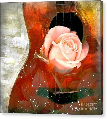 Guitar Love Canvas Print