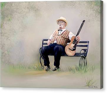 Guitar Man Canvas Print by Bonnie Willis