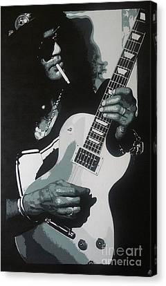 Guitar Man Canvas Print by ID Goodall