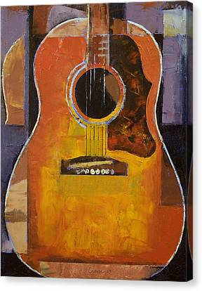 Guitar Canvas Print by Michael Creese