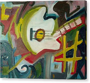 Guitar Muse In C Sharp Canvas Print by James Christiansen