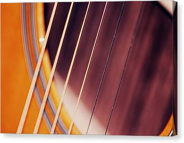 Guitar One Canvas Print by A K Dayton
