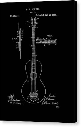 Guitar Patent 1888 Canvas Print by Mountain Dreams