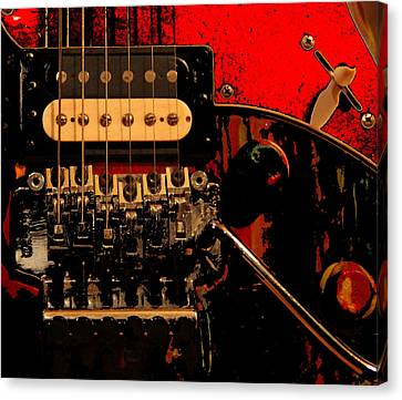 Canvas Print featuring the photograph Guitar Pickup by John Stuart Webbstock