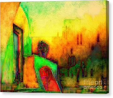 Canvas Print featuring the digital art Guitar Player by Mojo Mendiola
