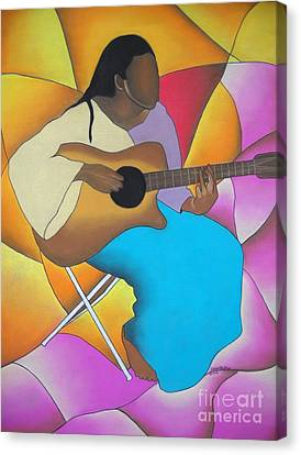 Guitar Player Canvas Print by Sonya Walker