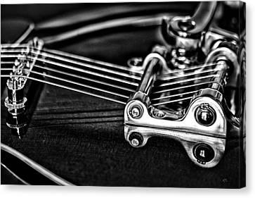 Guitar Reflection Canvas Print by Karol Livote