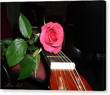 Guitar Rose Canvas Print