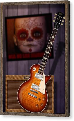 Guitar Scene Canvas Print