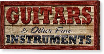 Guitar Sign Canvas Print by WB Johnston