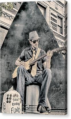 Guitar Solo Canvas Print by John Haldane