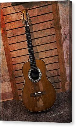 Guitar Solo Canvas Print by Terri Harper
