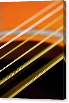 Guitar Strings Vibrating Canvas Print by Science Photo Library