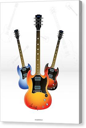 Guitar Style Canvas Print