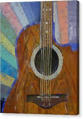 Guitar Sunshine Canvas Print