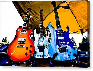 Guitar Trio Canvas Print by David Patterson