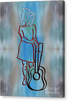 Guitarist Canvas Print by Patrick J Murphy