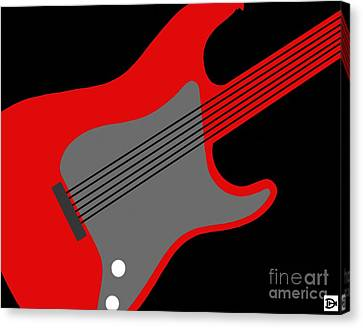 Guitarpop I Canvas Print by Andy Heavens